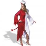 1/2 Devil, 1/2 Angel Adult Plus Costume