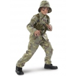 Delta Force Army Ranger Child Costume: Brown/Green, Medium, Everyday, Male, Child