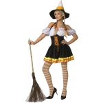 Candy Corn Adult Costume: Orange, X-Small, Halloween, Female, Adult