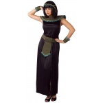 Black/Gold Cleopatra Adult Costume: Black, One-Size, Everyday, Female, Adult