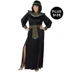 Black/Gold Cleopatra Adult Plus Costume: Black, Plus, Everyday, Female, Adult