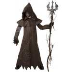 Evil Warlock Child Costume: Brown, Medium, Halloween, Male, Child