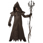Evil Warlock Child Costume: Brown, Large, Halloween, Male, Child