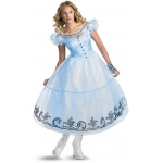 Alice in Wonderland Movie - Deluxe Alice Adult Costume:Small (4-6)