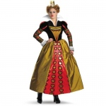 Alice In Wonderland Movie Deluxe Red Queen Adult Costume: Red, Medium, Everyday, Female, Adult