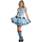 Alice In Wonderland Movie - Sassy Blue Dress Alice Adult Costume:Small (4-6)