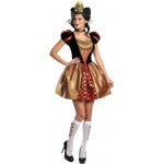 Alice In Wonderland Movie - Sassy Red Queen Adult Costume:Small (4-6)
