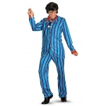 Austin Powers Carnaby Street Blue Suit Deluxe Adult Costume: Blue, X-Large, Everyday, Male, Adult