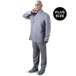 Austin Powers Dr. Evil Deluxe Plus Adult Costume: Gray, XX-Large, Everyday, Male, Adult