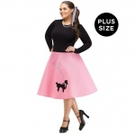 Adult Poodle Skirt Plus Size:Plus