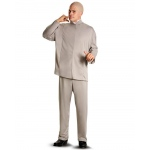 Austin Powers  Dr. Evil Deluxe Adult Costume: Gray, Standard One-Size, Everyday, Male, Adult