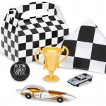 Black and White Check Birthday Party Favor Box: