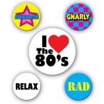 80's Party Buttons (5)