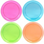 Neon Plastic Dinner Plates Assorted (20)