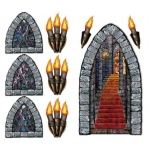 5' Stairway, Window & Torch Props Wall Add-Ons