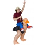 Illusion Ollie Ostrich Adult Costume: White, Standard, Everyday, Male, Adult