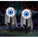 Lighted Moving Eyes Pathway Markers (2): White, Everyday, Unisex, Adult