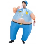 Cop Inflatable Adult Costume One-Size:One-Size
