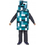 Blue Pixel Robot Child Costume:Small/Medium (4-8)