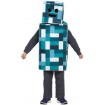 Blue Pixel Robot Child Costume:Large (12-14)
