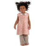 Cave Baby Girl Toddler Costume: Pink/Grey, 12-18 Months, Everyday, Female, Toddler