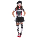 Female Mime Adult Costume:Small (6-8)