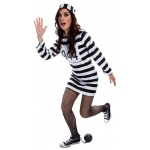 Female Prisoner Dress Costume:Medium (10-12)