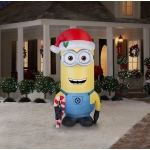 Minions Christmas Kevin 8 Foot Outdoor Airblown: