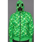 Minecraft Creeper Premium Zip-Up Adult Hoodie:Small