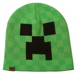Minecraft Creeper Face Beanie Hat: Green, One-Size, Everyday, Unisex, Adult