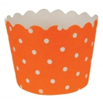 Sunkissed Orange Polka Dot Cupcake Wrappers (12): Birthday