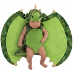 Baby Darling Dragon Costume - One-Size: Green, One-Size, Everyday, Unisex, Infant