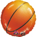 Basketball Fan Foil Balloon: Multi-colored, Birthday