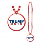 Donald Trump Beads with Medallion: Everyday, Adult