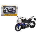 BMW S1000RR White/Red/Blue Motorcycle 1/12 Diecast Model by Maisto