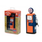 "1948 Wayne 100-A Gas Pump Gulf Oil ""That Good Gulf Gasoline"" Gas Pump Replica Vintage Gas Pump Series 2 1/18 Diecast Model by Greenlight"