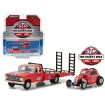 1968 Ford F-350 Ramp Truck STP & Topo Fuel Altered HD Trucks Series 10 1/64 Diecast Models by Greenlight