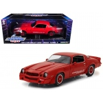1981 Chevrolet Camaro Z/28 Yenko Turbo Z Red 1/18 Diecast Model Car by Greenlight