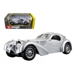 Bugatti Atlantic Silver 1/24 Diecast Car Model by BBurago