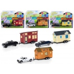 """Tiny Houses"" Set of 3 Trucks, Release A 1/64 Diecast Model Cars by Johnny Lightning"