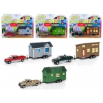 """Tiny Houses"" Set of 3 Trucks, Release B 1/64 Diecast Model Cars by Johnny Lightning"