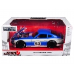 1972 Datsun 240Z #53 Blue/White JDM Tuners 1/24 Diecast Model Car by Jada