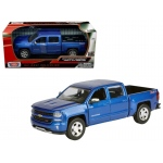 2017 Chevrolet Silverado 1500 LT Z71 Crew Cab Blue 1/27 Diecast Model Car by Motormax