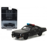 1976 Dodge Coronet Black Bandit Police 1/64 Diecast Model Car by Greenlight