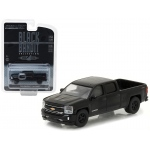 2016 Chevrolet Silverado Pickup Truck Black Bandit 1/64 Diecast Model Car by Greenlight