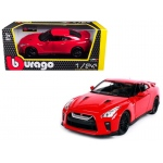 2017 Nissan GT-R R35 Red 1/24 Diecast Car Model by BBurago