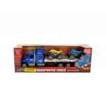 Friction Powered Toy Trailer Truck With ATVs