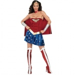 Wonder Woman Adult Costume - Large: Red, Large, Everyday, Female, Adult