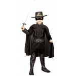 Zorro Muscle Chest Deluxe Child Costume size 4/6: 4-6, Dress Up
