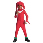 Sonic and Knuckles - Knuckles Child Costume - L (12/14): Red, L, Everyday, Male, Child